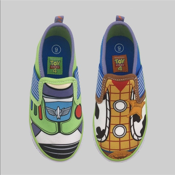 Toy Story 4 Buzz and Woody SIZE 11 TODDLER Shoes WITH TAGS BRAND NEW